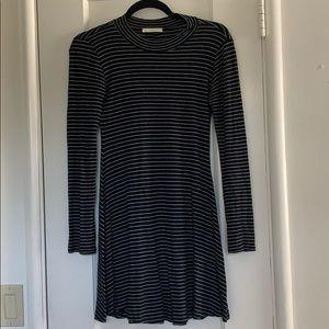 Nordstrom Striped Mock Neck Sweater Dress